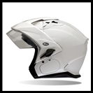 BELL MAG-9 OPEN FACE HELMET WITH VISOR, SHIELD, & SUN SHADE - PEARL WHITE