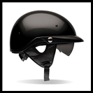 BELL PIT-BOSS HALF HELMET WITH SUN SHADE - GLOSS BLACK