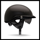 BELL PIT-BOSS HALF HELMET WITH SUN SHADE - MATTE BLACK