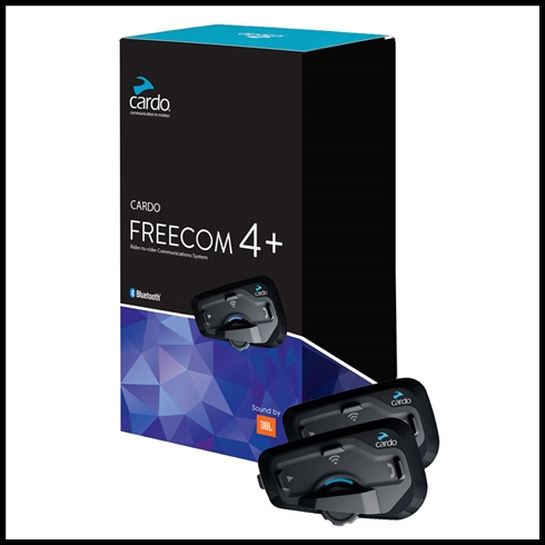 Sierra Electronics Cardo Freecom 4 Plus Duo Bluetooth Headsets With Jbl Speaker Set Cardo Headsets Cardo Freecom4 Plus Jbl Duo