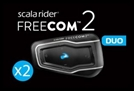CARDO SCALA RIDER FREECOM 2 DUO BLUETOOTH HEADSET