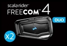 CARDO SCALA RIDER FREECOM 4 DUO BLUETOOTH HEADSET