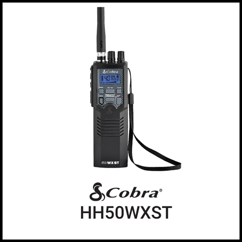 COBRA HH50WXST PORTABLE 40 CHANNEL CB RADIO WITH 10 NOAA WEATHER CHANNELS