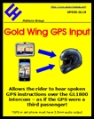 GOLD WING GPS AUDIO INPUT INTERFACE