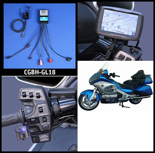 J&M Custom BluHub Bluetooth Cell/Smart-Phone/GPS/RadarBeep Terminal for Honda GL-1800 & F6B