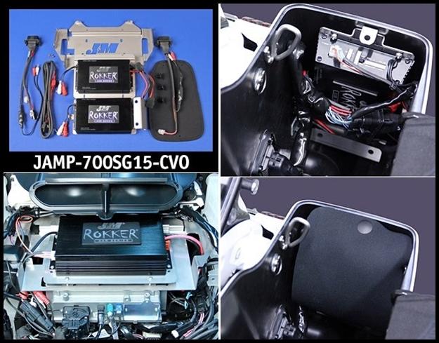 J&M ROKKER XXR Custom Stage5 700w Dual-Amplifier Installation Kit for on