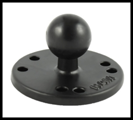 "RAM 2.5"" Round Base with the AMPs Hole Pattern & 1"" Ball"