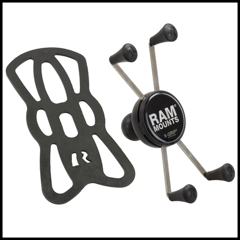 "RAM Mount Universal X-Grip IV Large Phone/Phablet Holder with 1"" Ball"