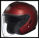SHOEI J-CRUISE OPEN FACE HELMET - WINE