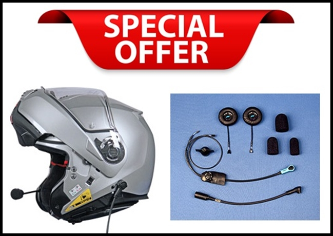 NOLAN N100-5 MODULAR FLIP-UP HELMET WITH J&M ELITE SERIES 801 INTEGRATED HEADSET INSTALLED