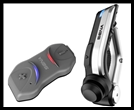 SENA 10R Low- Profile Motorcycle Bluetooth Communication System with HR-01 Handlebar Remote