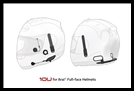 SENA 10U Motorcycle Bluetooth Communication System with Handlebar Remote for Arai Full-Face Helmets