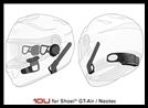SENA 10U Motorcycle Bluetooth Communication System with Handlebar Remote for Shoei GT-Air Full-Face Helmets