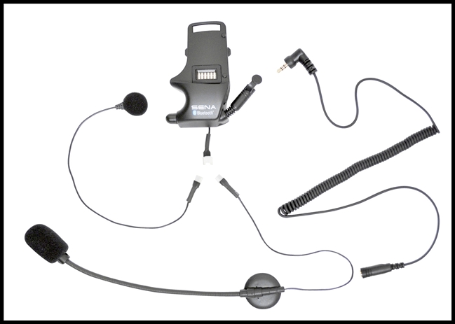 SENA SMH10 Helmet Clamp Kit - Attachable Boom & Wired Microphone - For Earbuds