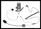 SENA SMH10 Helmet Clamp Kit With Attachable Boom & Wired Microphone - For Earbuds