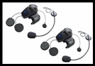 SENA SMH10 Motorcycle Bluetooth Headset / Intercom with Universal Microphone Kit (Dual Pack)