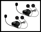 SENA SMH10 Motorcycle Bluetooth Headset/Intercom - Bell MAG-9 / Qualifier DXL - Dual Pack
