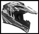 VEGA MIGHTY X JR. OFF-ROAD HELMET - BLITZ BLACK GRAPHIC