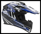 VEGA MIGHTY X JR. OFF-ROAD HELMET - BLITZ BLUE GRAPHIC