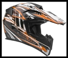 VEGA MIGHTY X JR. OFF-ROAD HELMET - BLITZ KTM ORANGE GRAPHIC