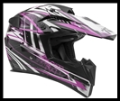 VEGA MIGHTY X JR. OFF-ROAD HELMET - BLITZ PINK GRAPHIC