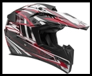 VEGA MIGHTY X JR. OFF-ROAD HELMET - BLITZ RED GRAPHIC