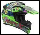 VEGA MIGHTY X JR. OFF-ROAD HELMET - SUPER FLY GRAPHIC